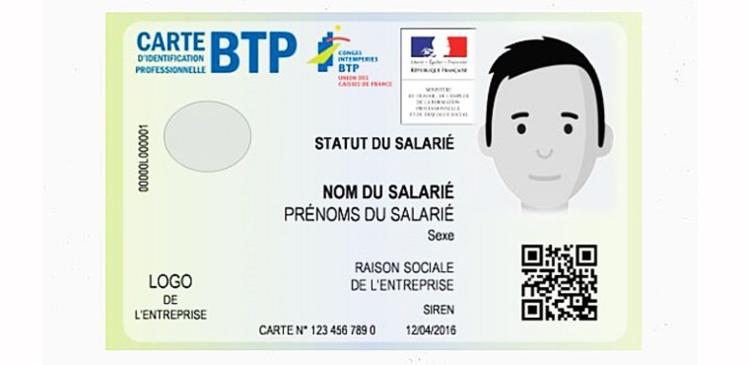 Lancement de la carte d'identification du BTP, obligatoire sur les chantiers