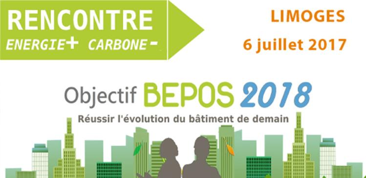 La rencontre autour du Label Énergie+ Carbone- c'est le 06 juillet à Limoges !