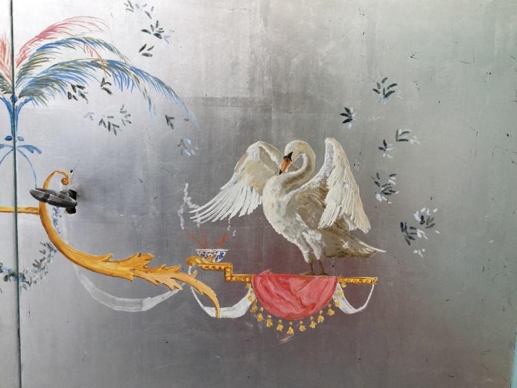 Détail panneau peint par Isabelle Arpagian