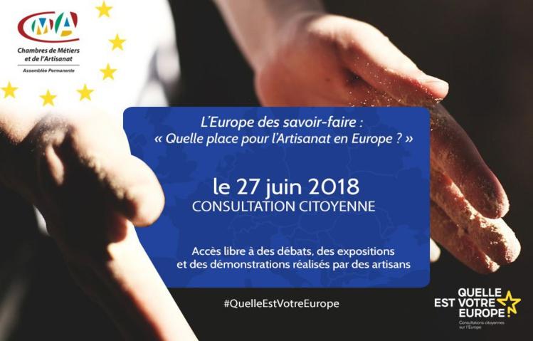 Quelle place pour l'Artisanat en Europe ? Participez à la consultation citoyenne !