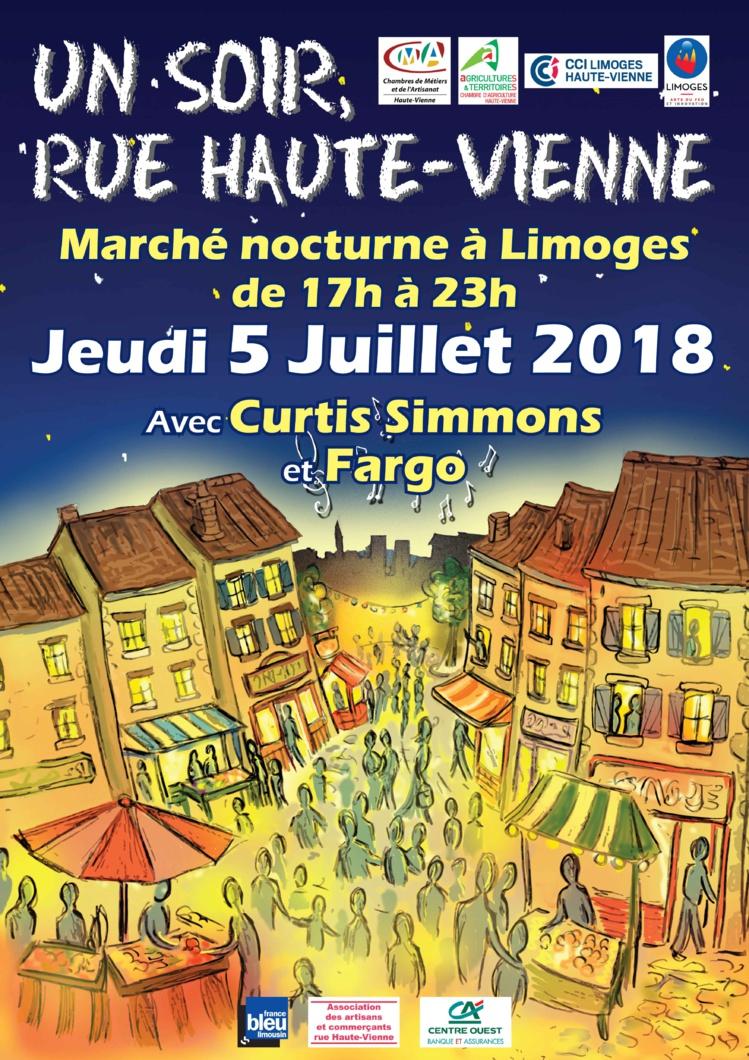 """un soir, rue Haute-Vienne"", jeudi 5 juillet prochain"