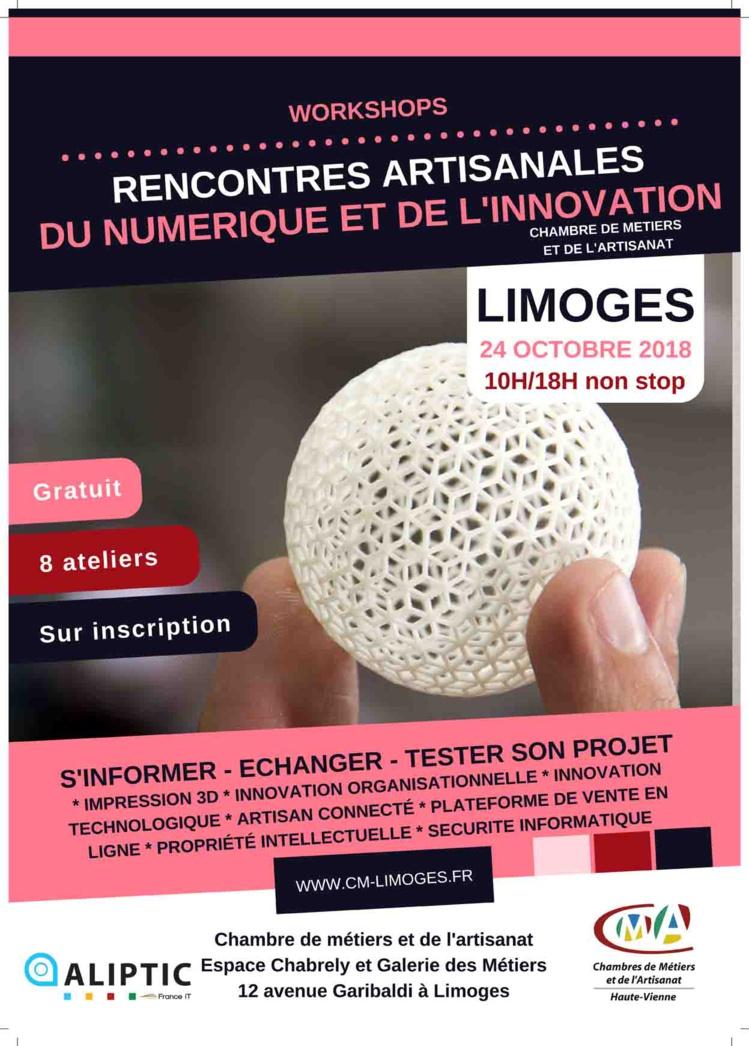 Rencontres Artisanales du Numérique et de l'innovation à Limoges
