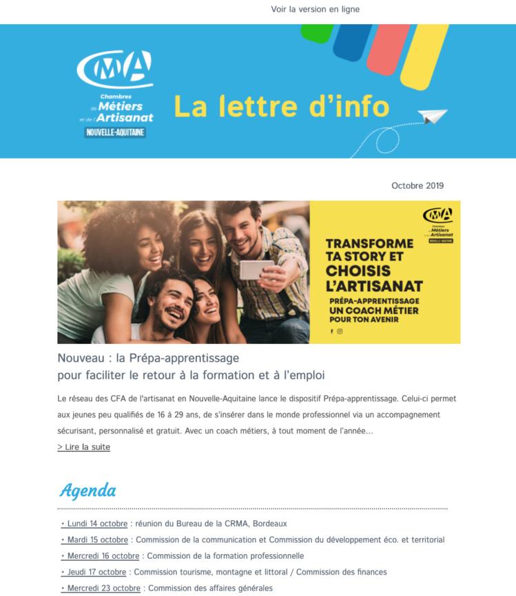 La newsletter de l'#artisanat en @NvelleAquitaine vient de sortir ! [Octobre 2019]
