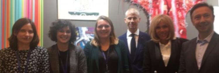 Le ministre de la culture, Stéphane Bern et Brigitte Macron sont venus admirer le travail des artisans lissiers d'Aubusson (23)