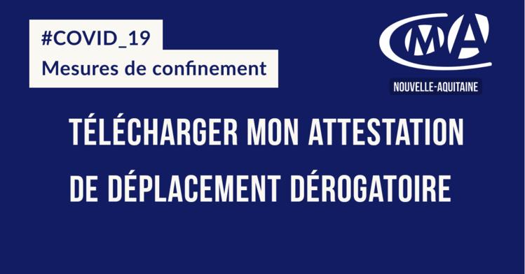 #COVID19 : Télécharger mon attestation de déplacement dérogatoire