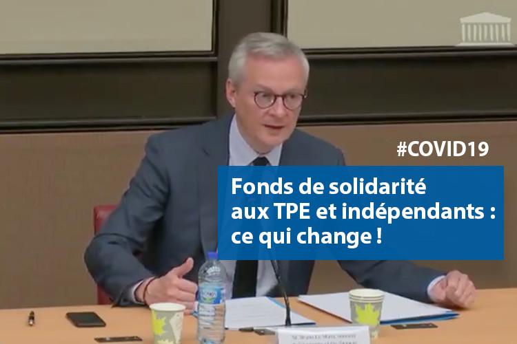 COVID19 : le Fonds de solidarité aux TPE et indépendants passe de 1 à 7 milliards €. Voici ce qui change.