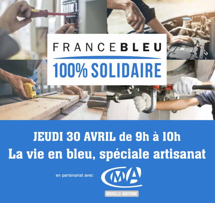 #COVID19 : écoutez l'émission « La Vie en Bleu » dédiée à l'artisanat en Nouvelle-Aquitaine