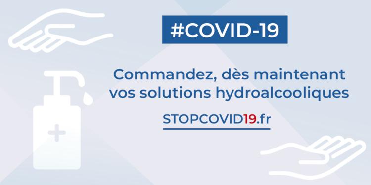 COVID19 : commandez vos produits de protection