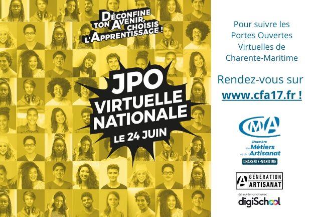24 juin - Portes Ouvertes virtuelles du CFA 17