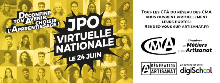 Journée Nationale le 24 juin, JPO virtuelles dans tous les CFA de France