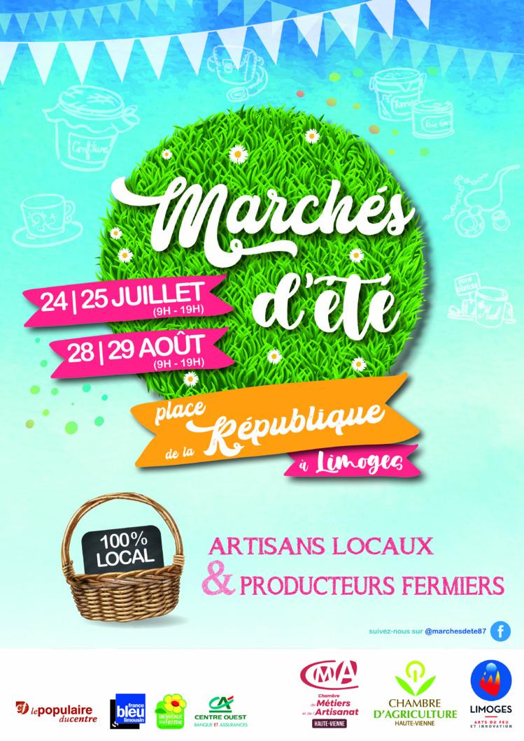 Deux nouveaux marchés d'été à Limoges !