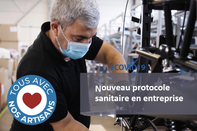#COVID19 : nouveau protocole sanitaire en entreprise