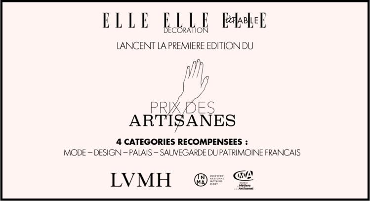 Les magazines ELLE, ELLE Décoration et ELLE à table lancent le Prix des Artisanes !