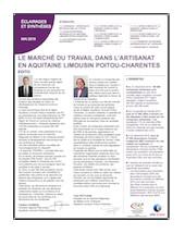 Le marché du travail dans l'artisanat en Nouvelle-Aquitaine