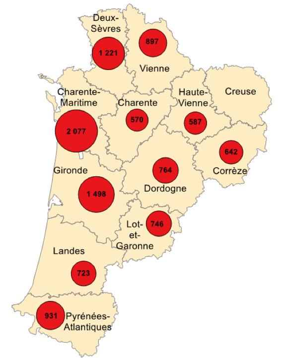 Les effectifs d'apprentis dans les CFA du réseau CMA au 31/12/2015