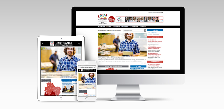 Presse : Lancement du portail web de l'artisanat en Nouvelle-Aquitaine