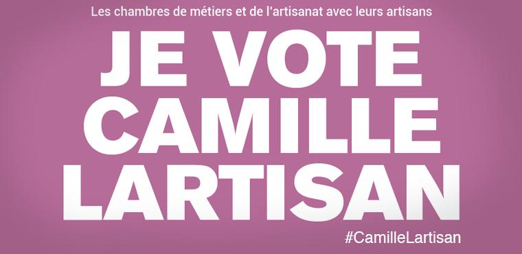 L'artisanat a son porte-parole : soutenons la candidature de Camille Lartisan !