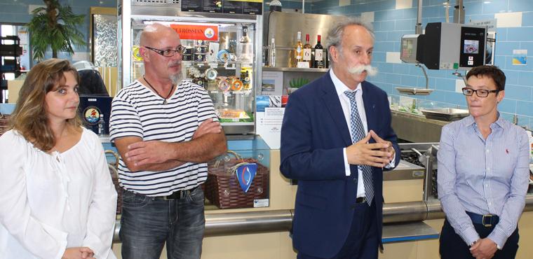 Bernard Stalter rencontre Karine Desroses et les artisans de la Vienne