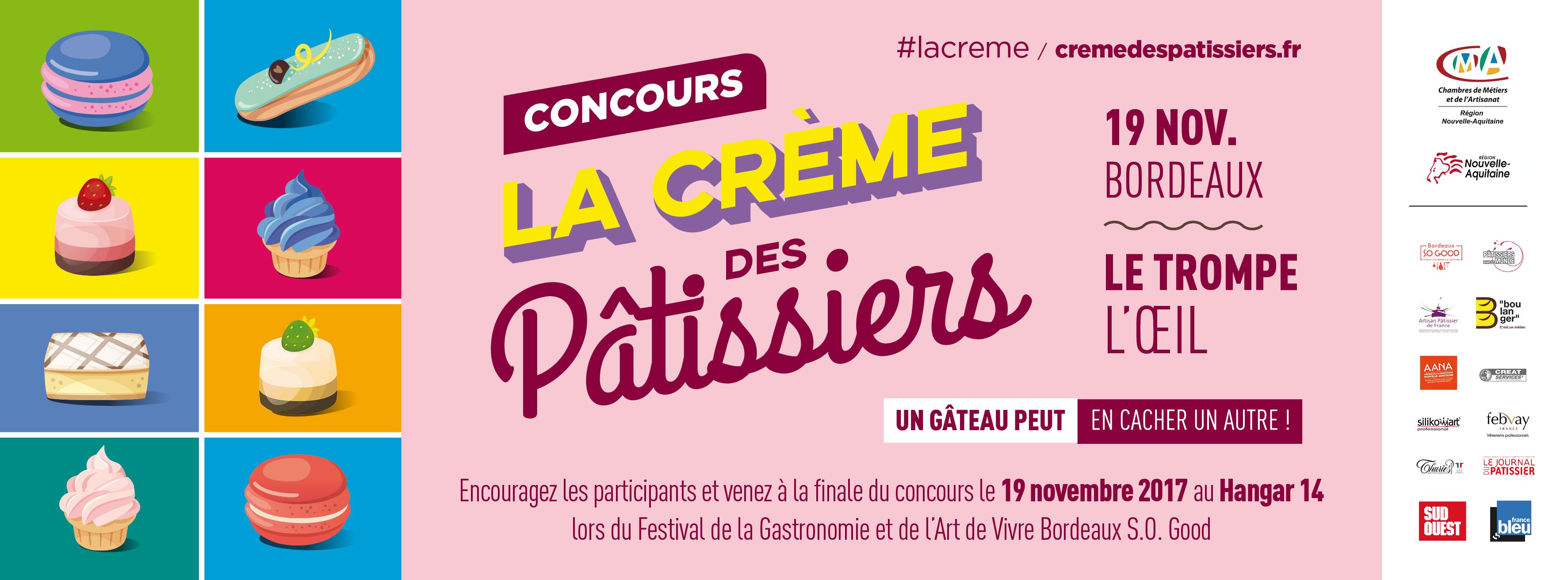 Presse : Concours La Crème des Pâtissiers Edition 2017