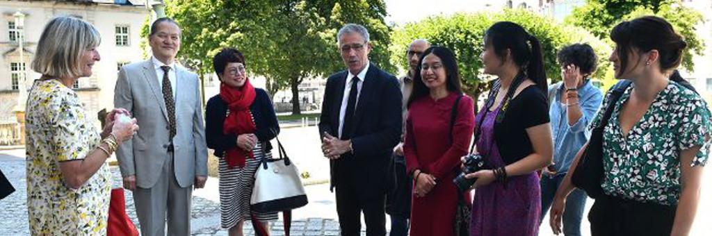 Les émailleurs de Limoges accueillent leurs homologues chinois à Limoges