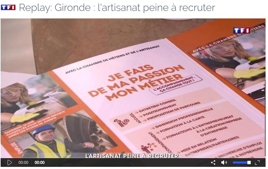 TF1 - Gironde : l'artisanat peine à recruter