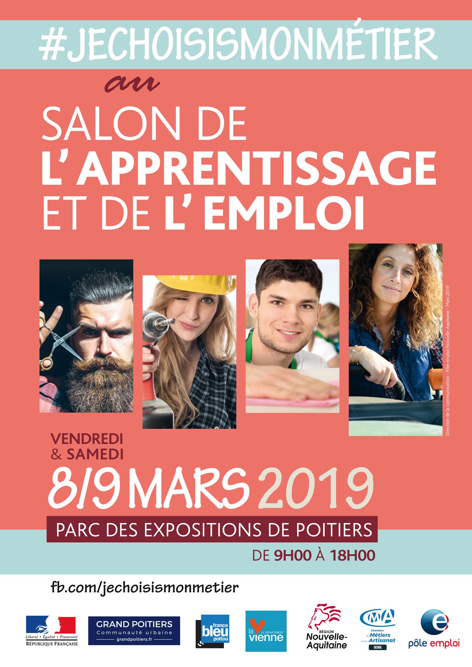 Salon de l'apprentissage et de l'emploi, les 8 et 9 mars à Poitiers