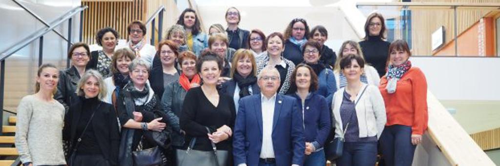 Femmes du bâtiment en visite au CFA de Lagord (17)