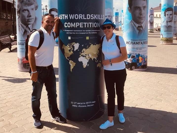 Karine Desroses et Cyrille Maître à Kazan, Russie