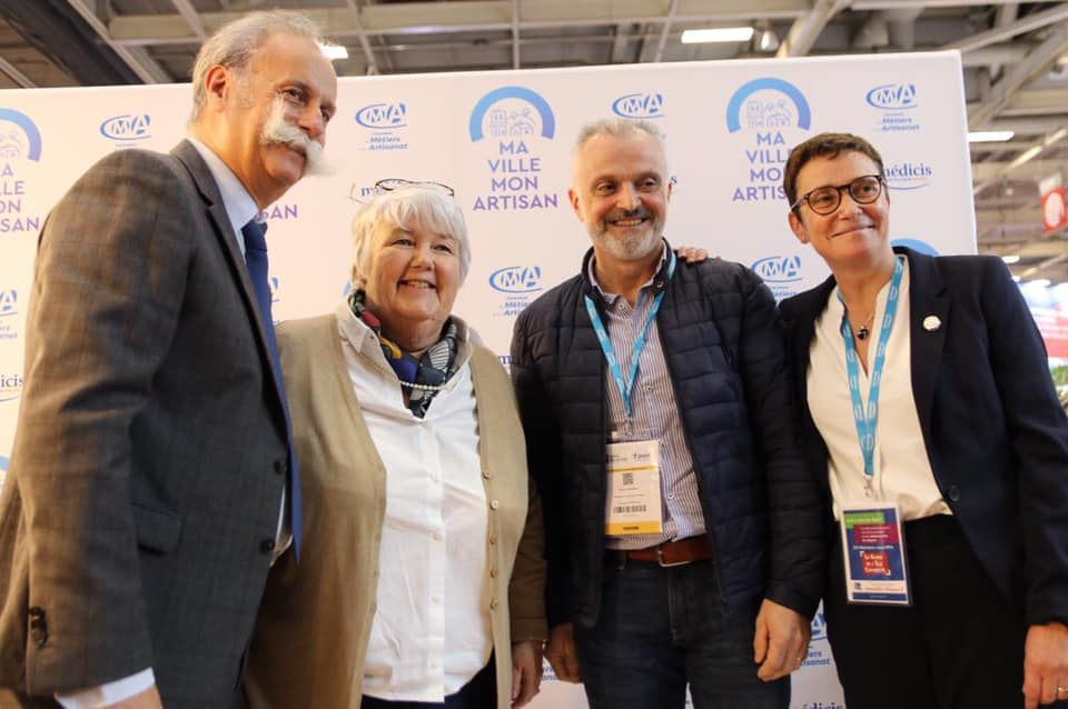 Bernard Stalter, Jacqueline Gourault, Pascal Bernard et Karine Desroses