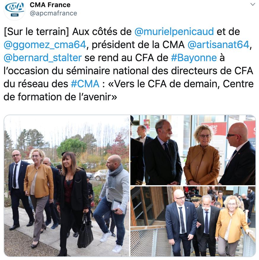 """Muriel Penicaud à la rencontre des """"Centres de Formation d'Avenir"""" à Bayonne"""