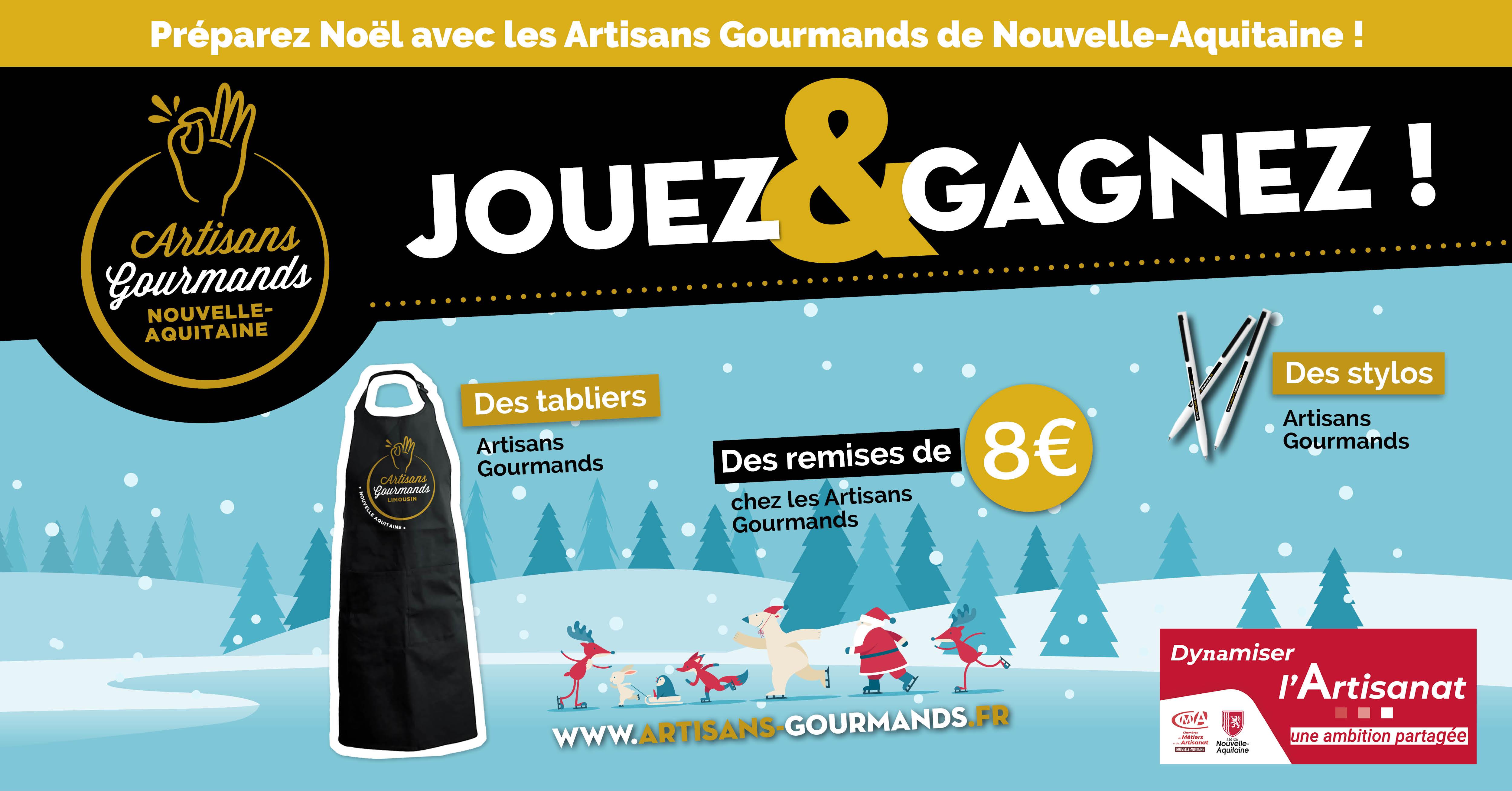 [ Jouez et Gagnez ] C'est Noël avec les Artisans Gourmands de Nouvelle-Aquitaine !