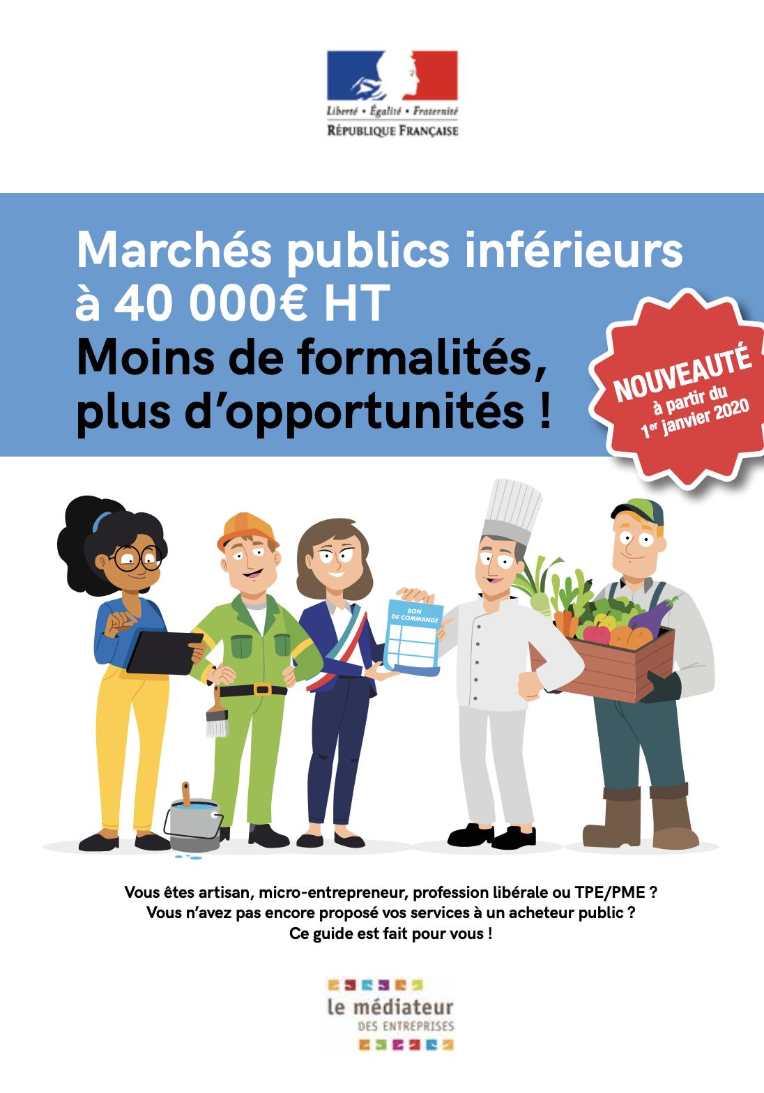 Marchés publics de moins de 40 000 € : moins de formalités, plus d'opportunités pour les artisans