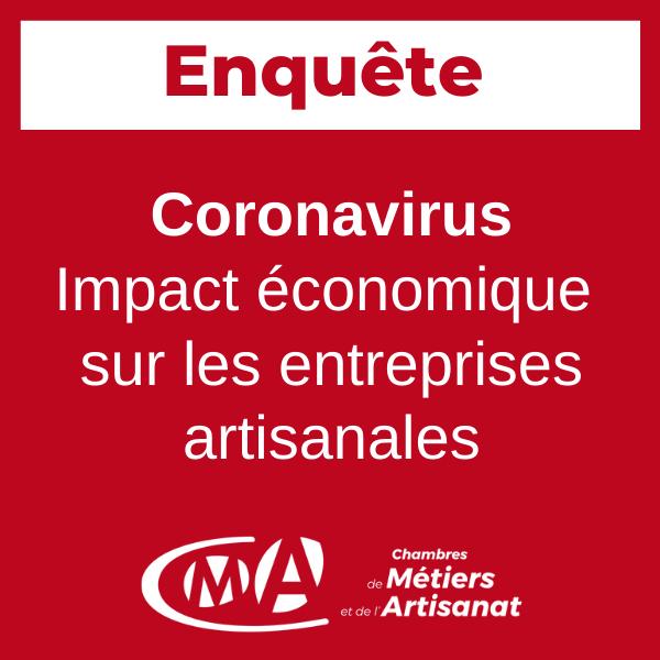 Covid-19 : le réseau des CMA lance une enquête en ligne auprès des artisans
