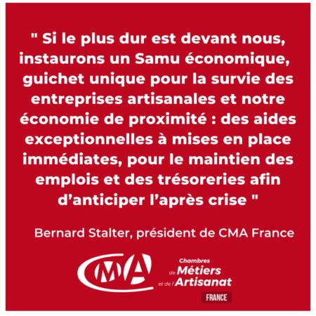 Pour un SAMU économique, guichet unique pour la survie des entreprises artisanales !