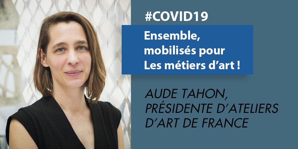 #COVID19 : Ensemble, mobilisés pour le secteur des métiers d'art !