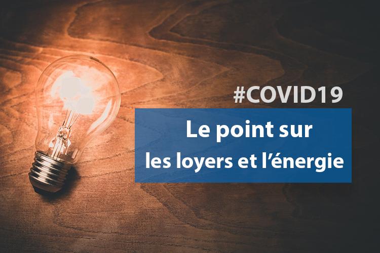 #COVID19 : la question des loyers, de l'eau, du gaz et de l'électricité