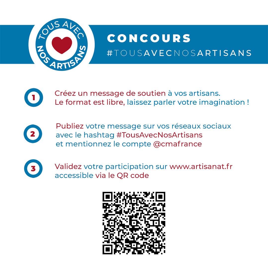 #COVID19 :  Participez au concours #Tousavecnosartisans
