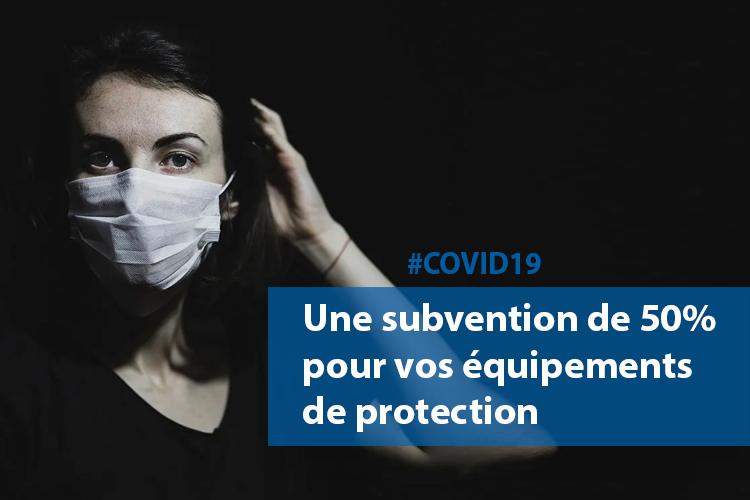 #COVID19 : une subvention de 50% pour l'achat d'équipements de protection