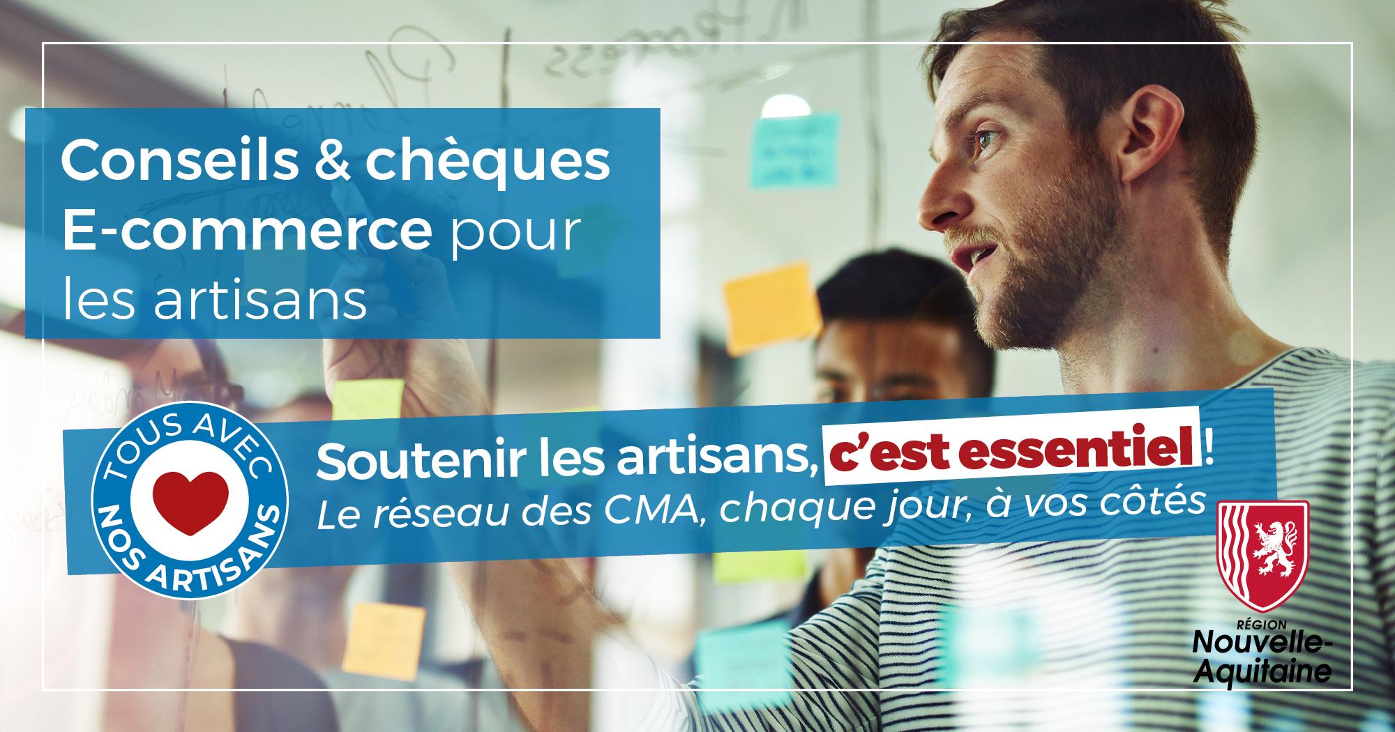 #COVID19 : conseils et chèques e-commerce pour les artisans de Nouvelle-Aquitaine