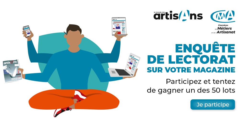 """Participez à l'enquête de lectorat du magazine """"Le Monde des Artisans"""""""