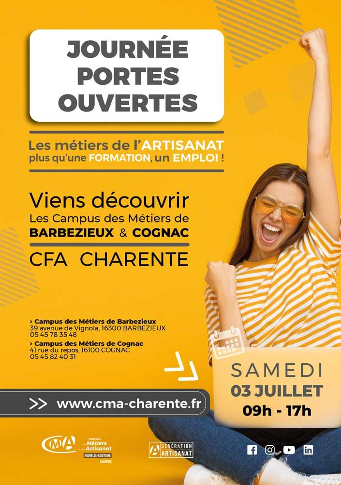 JOURNÉE PORTES-OUVERTES CFA CHARENTE SAMEDI 3 JUILLET 2021