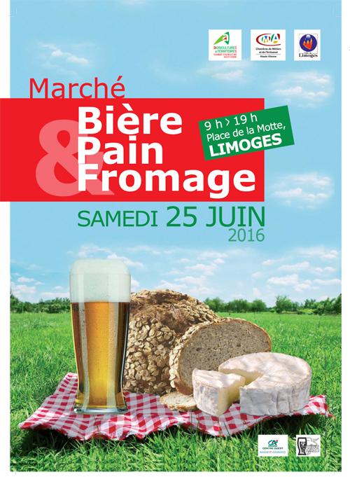 Le march bi re pain et fromage se tiendra le 25 juin for Chambre d agriculture haute vienne