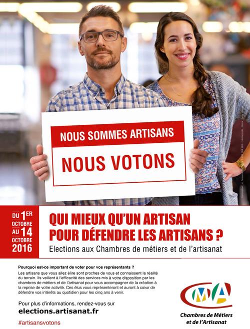Elections aux CMA : les artisans appelés à voter en octobre 2016