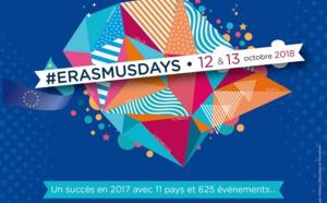 #ErasmusDays 2018, ce sera les 12 et 13 octobre