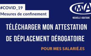 COVID19 : téléchargez le justificatif de déplacement professionnel (volet employeur)