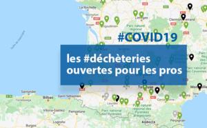 #COVID19 : la carte des #déchèteries ouvertes pour les pros