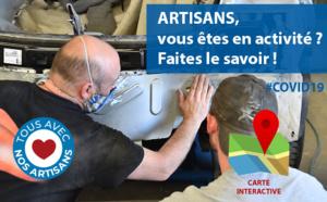 #COVID19 : Artisans en activité, faites le savoir !