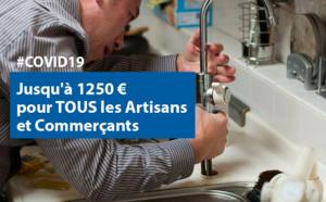 #COVID19 : une aide exceptionnelle pour TOUS les artisans et commerçants