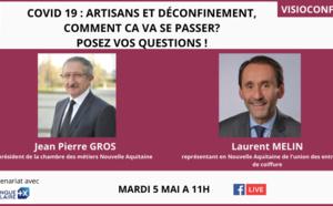 #COVID19 : Déconfinement, quelles mesures pour les artisans? Vos questions en direct le 5 mai à 11H