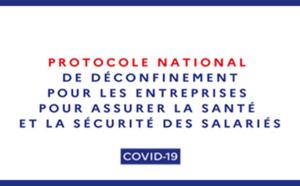 #COVID19 : Protocole national de déconfinement pour les entreprises pour assurer la sécurité et la santé des salariés